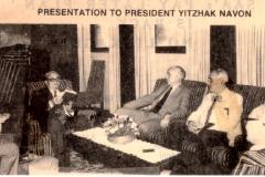 Telfed presentation to  President Navon