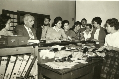Staff at Telfed offices Hayarkon St