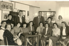 Staff at Telfed offices Hayarkon St early 1960s