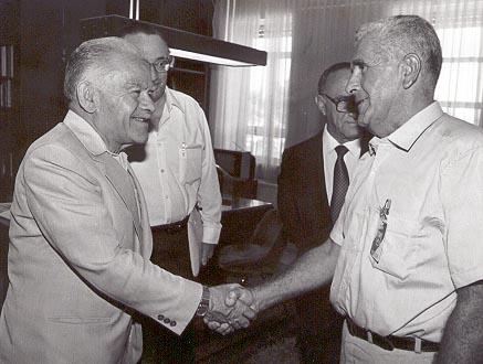 Leon Charney meets Yitzhak Shamir