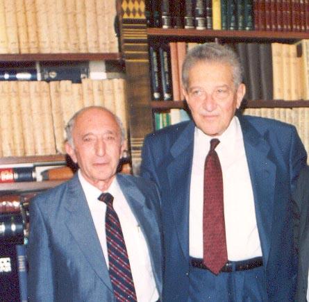 Nick Alhadeff and Ezer Weizman
