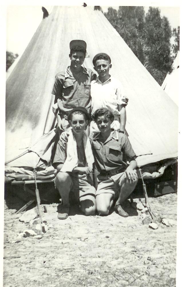 Humewood-P.E 1949 LB.Standing M. Maniom, I. Shapiro, A. Godman & Kelly