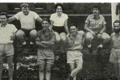 1955 Hachshara Grass mier L-R J.Shapiro, L.Klass, E.Dratz, K.Modlin,  M. Tamari