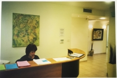 The reception area of the new Telfed office