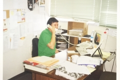 On the phone at the new Telfed offices in Raanana - circa 1999